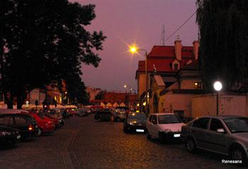 Szeroka Street in the background Old Synagogue
