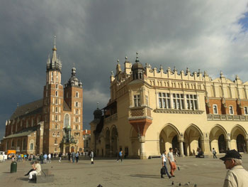 St. Mary's Church on the Main Market Square in Krakow
