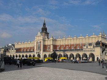 Sukiennice on the Main Market Square in Krakow